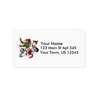 Grant Tartan Lion Address Label