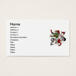 Grant Tartan Lion Business Card