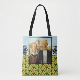 Grant Wood AMERICAN GOTHIC 1930 Tote Bag