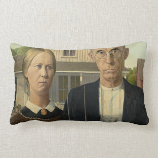 Grant Wood American Gothic Pillow