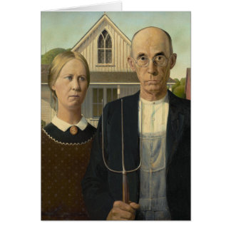 Grant Wood American Gothic Greeting Card