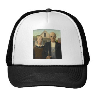 Grant Wood - American Gothic Mesh Hat
