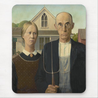 Grant Wood - American Gothic Mousepad