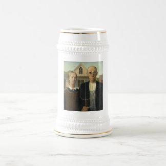 Grant Wood - American Gothic Coffee Mugs