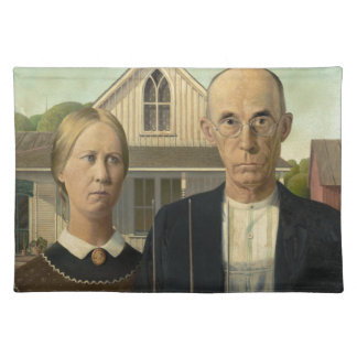 Grant Wood American Gothic Placemat