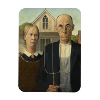Grant Wood - American Gothic Magnets