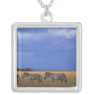 Grant Zebra 2 Silver Plated Necklace