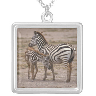 Grant Zebra 3 Silver Plated Necklace