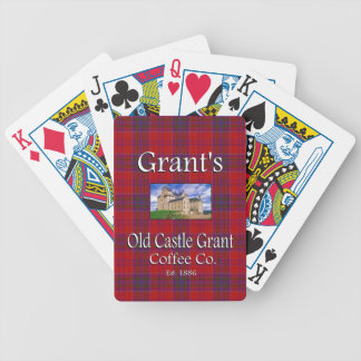 Grant's Old Castle Grant Coffee Co. Bicycle Poker Deck