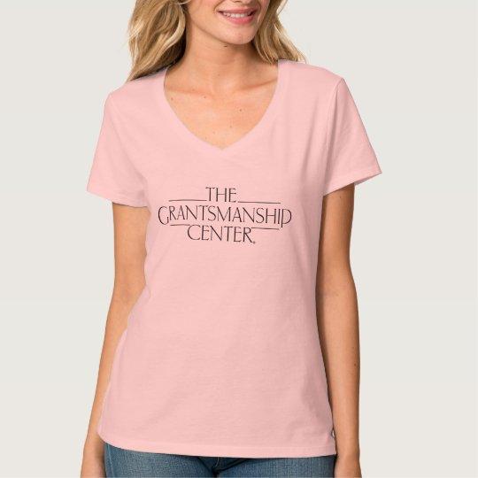 Grantsmanship Logo Women's Light V-neck Tee