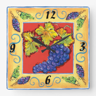 Grape Cluster wall clock