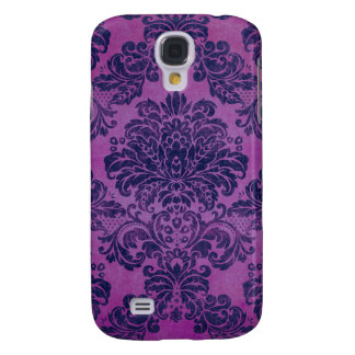 Grape Damask Samsung Galaxy S4 Cases