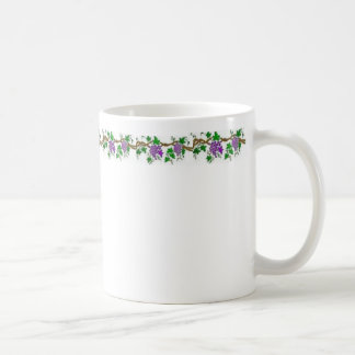 Grape Design Basic White Mug