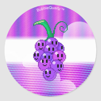 Grape emotes circle stickers (customizable)