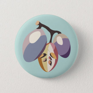 Grape fruit illustration 6 cm round badge