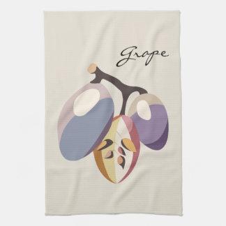 Grape fruit illustration tea towel