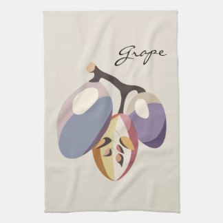 Grape fruit illustration towel
