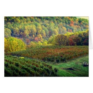Grape Harvest ends blank card
