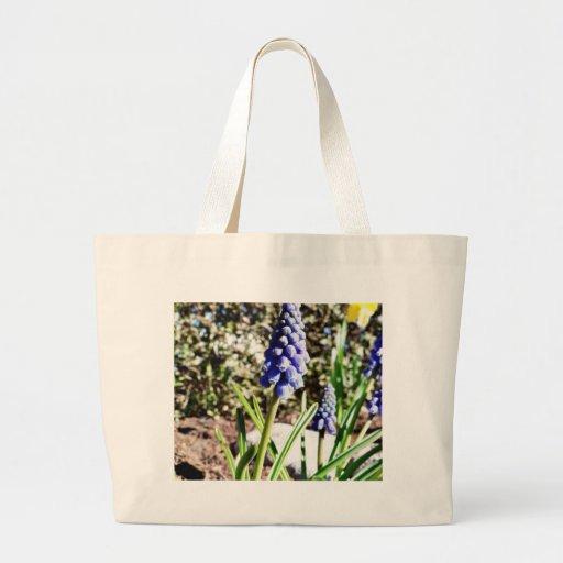 Grape Hyacinth Flower Jumbo Tote Bag