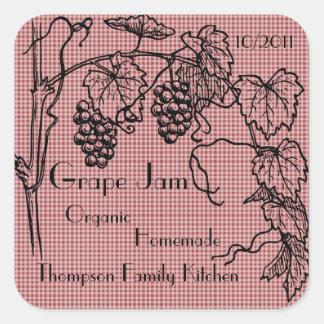 Grape Jam Jar Label (Customize)