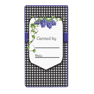 Grape Jelly Jar Labels