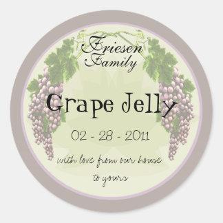Grape Jelly label 3b Round Sticker