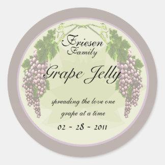 Grape Jelly labels Round Sticker