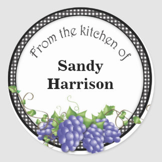 Grape Label Sticker Personalized