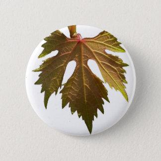 Grape leaf 6 cm round badge