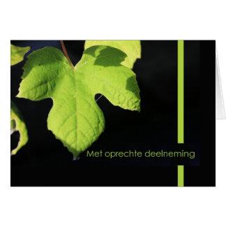 grape leaf Dutch sympathy card