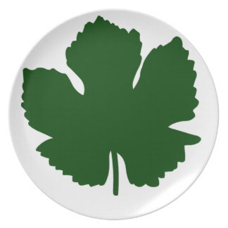Grape Leaf Party Plates