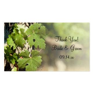Grape Leaves Vineyard Wedding Favor Tags Business Card