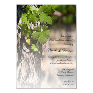 Grape Leaves Vineyard Winery Post Wedding Brunch Card