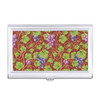 Grape Pattern Business Card Holder