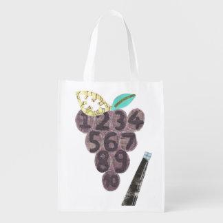 Grape Pool No Background Reusable Bag