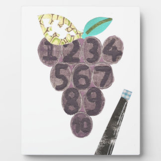 Grape Pool on an Easel Plaque