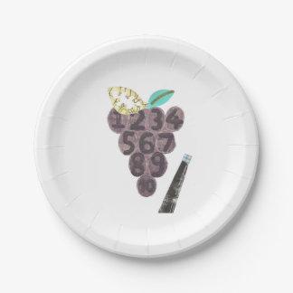Grape Pool Paper Plate