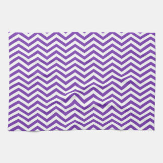 Grape Purple Chevron Stripes Tea Towel