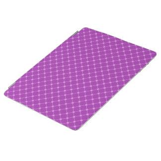 Grape, Purple Criss-Cross Pattern iPad Cover