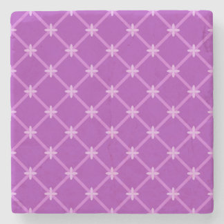 Grape, Purple Criss-Cross Pattern Stone Coaster