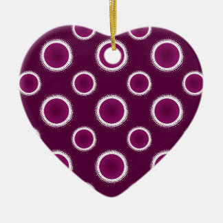 Grape Purple Eclipse Christmas Ornament