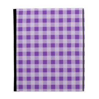 Grape Purple Gingham; Checkered iPad Folio Cases