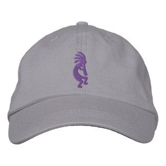 Grape Purple Kokopelli Gray Embroidered Hat