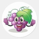 Grape Round Sticker