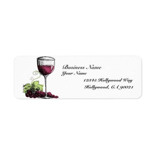Grape Vine Address Labels