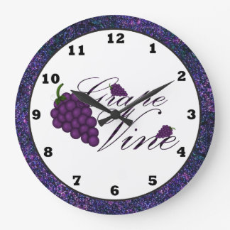 Grape Vine Kitchen Clock