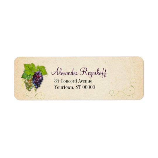 Grape Vine Return Address