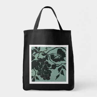 Grape Vine Silhouette Grocery Bag