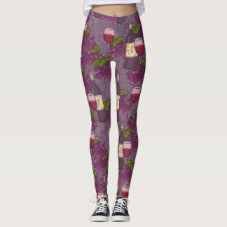 Grape Wine Pattern Leggings