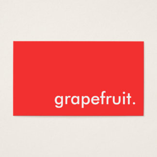 grapefruit. business card